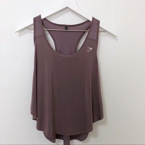 Gymshark Aptitude Cropped Vest in Purple Wash
